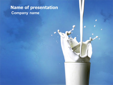 Food & Beverage: Glass Of Milk PowerPoint Template #03357