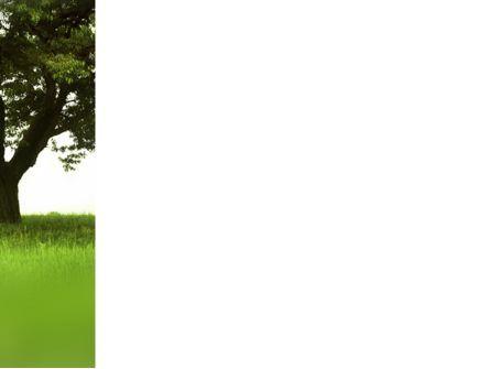 Tree On A Green Meadow PowerPoint Template, Slide 3, 03358, Nature & Environment — PoweredTemplate.com
