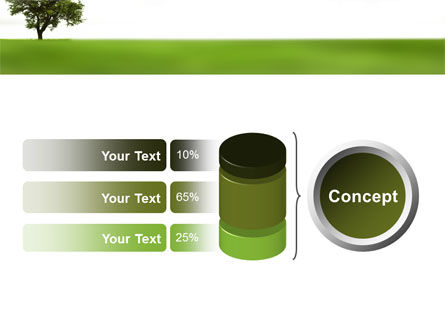 Tree On A Green Meadow PowerPoint Template Slide 11