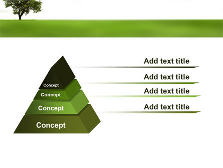 Tree On A Green Meadow PowerPoint Template Slide 12