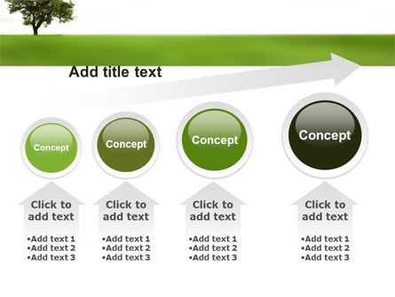 Tree On A Green Meadow PowerPoint Template Slide 13