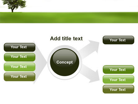 Tree On A Green Meadow PowerPoint Template Slide 14