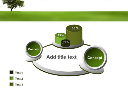 Tree On A Green Meadow PowerPoint Template Slide 16