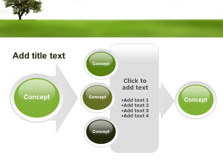 Tree On A Green Meadow PowerPoint Template Slide 17