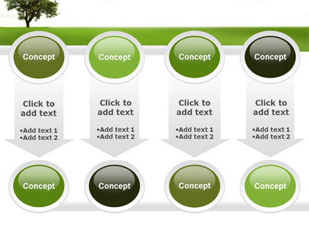 Tree On A Green Meadow PowerPoint Template Slide 18