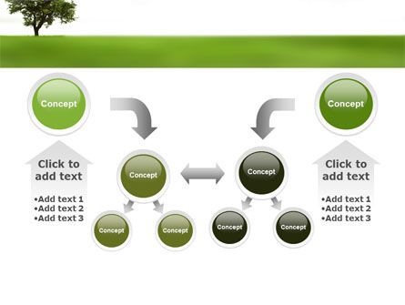 Tree On A Green Meadow PowerPoint Template Slide 19