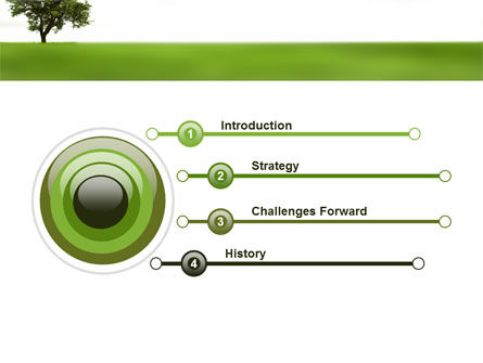 Tree On A Green Meadow PowerPoint Template Slide 3