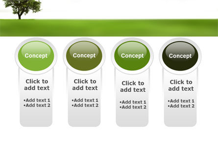 Tree On A Green Meadow PowerPoint Template Slide 5