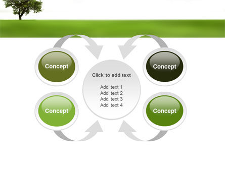 Tree On A Green Meadow PowerPoint Template Slide 6