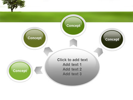 Tree On A Green Meadow PowerPoint Template Slide 7