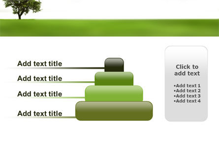 Tree On A Green Meadow PowerPoint Template Slide 8