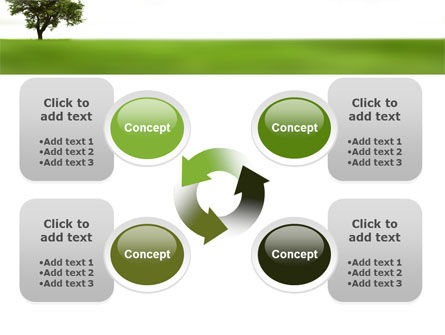 Tree On A Green Meadow PowerPoint Template Slide 9