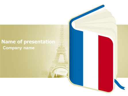Learning French PowerPoint Template, 03361, Flags/International — PoweredTemplate.com