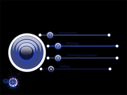 Virus In Dark Blue PowerPoint Template Slide 3