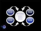 Virus In Dark Blue PowerPoint Template#6