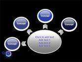 Virus In Dark Blue PowerPoint Template#7