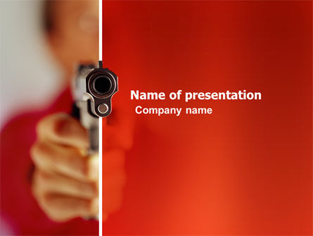 Fire Arms PowerPoint Template, 03363, Legal — PoweredTemplate.com
