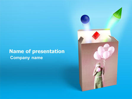 Holiday/Special Occasion: Balloon Box PowerPoint Template #03365