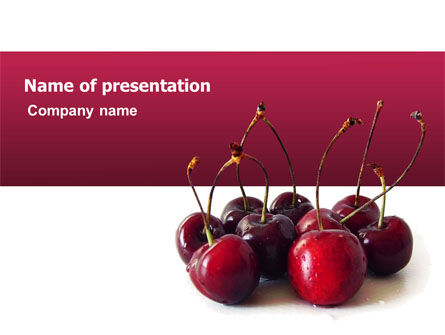 Agriculture: Ripe Cherries PowerPoint Template #03367