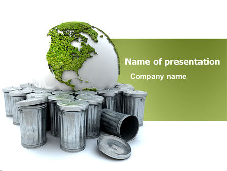 Refuse Bin PowerPoint Template, 03371, Nature & Environment — PoweredTemplate.com