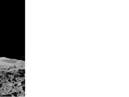 Moon Landscape PowerPoint Template, Slide 3, 03373, Technology and Science — PoweredTemplate.com