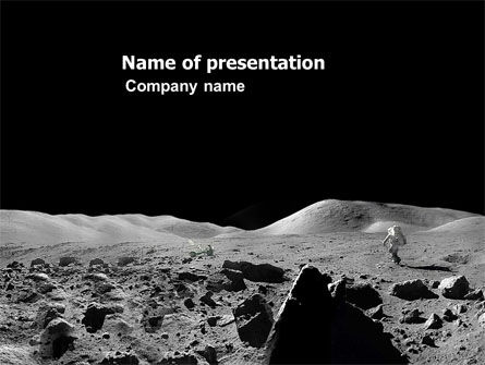 Technology and Science: Moon Landscape PowerPoint Template #03373