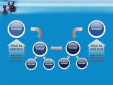 Winners In Swimming Pool PowerPoint Template#19