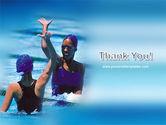 Winners In Swimming Pool PowerPoint Template#20