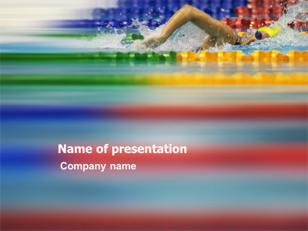 Sports: Swimming Contest PowerPoint Template #03375
