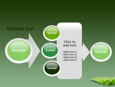 Fresh Dew On The Green Leaf PowerPoint Template Slide 17