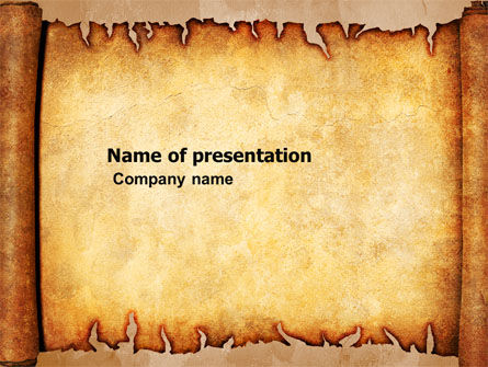 Scroll PowerPoint Template, 03378, Abstract/Textures — PoweredTemplate.com
