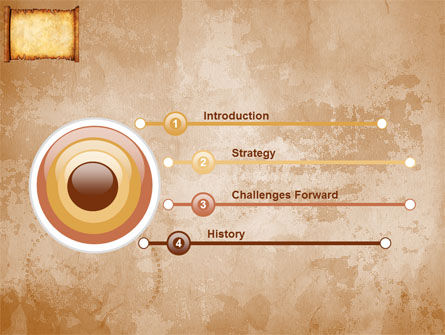 Scroll PowerPoint Template, Slide 3, 03378, Abstract/Textures — PoweredTemplate.com