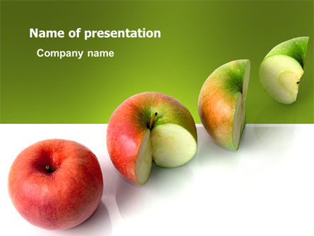Business Concepts: Three Quarters Apple PowerPoint Template #03379