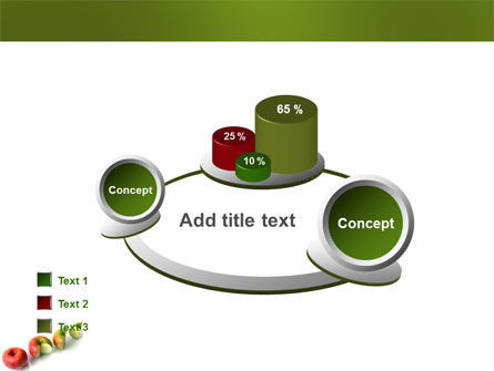 Three Quarters Apple PowerPoint Template Slide 16