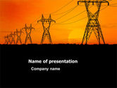 Utilities/Industrial: Transmission Facilities PowerPoint Template #03380