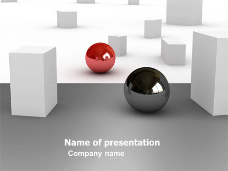 3D: Abstract Problem Solution PowerPoint Template #03381