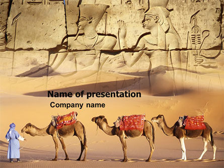 Education & Training: Pharaoh PowerPoint Template #03385
