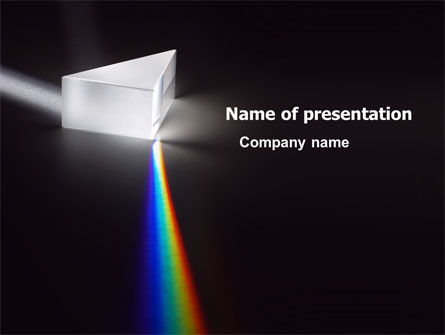 Technology and Science: Prism PowerPoint Template #03386