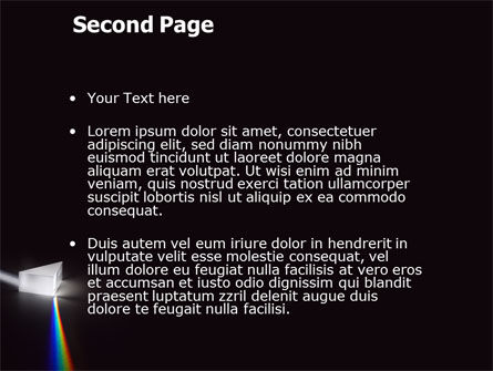 Prism PowerPoint Template, Slide 2, 03386, Technology and Science — PoweredTemplate.com