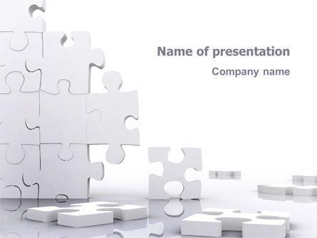 Business Concepts: Puzzle Wall PowerPoint Template #03387