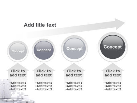 Puzzle Wall PowerPoint Template Slide 13