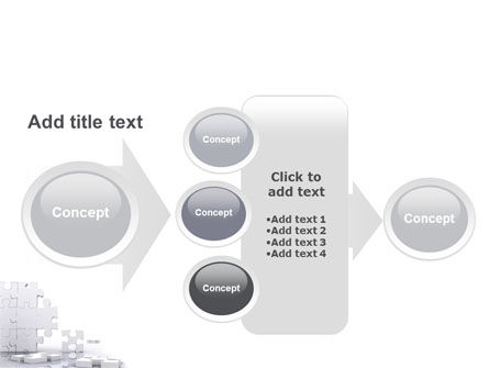 Puzzle Wall PowerPoint Template Slide 17