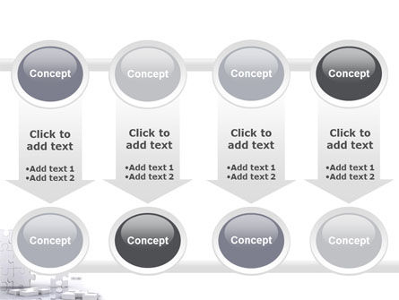 Puzzle Wall PowerPoint Template Slide 18