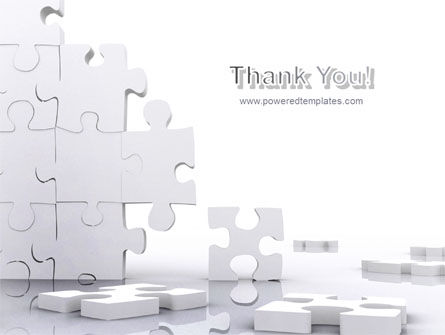 Puzzle Wall PowerPoint Template Slide 20