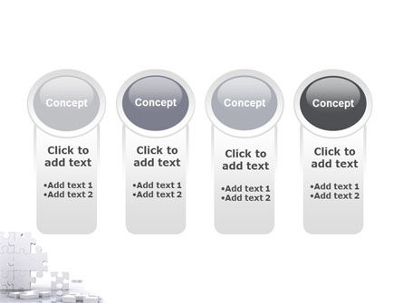 Puzzle Wall PowerPoint Template Slide 5