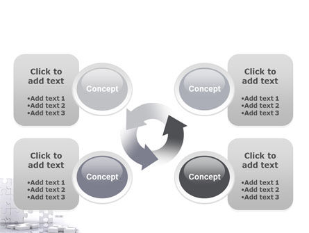 Puzzle Wall PowerPoint Template Slide 9