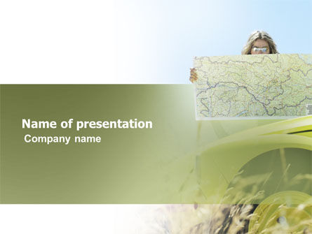 Voyage PowerPoint Template, 03388, Cars and Transportation — PoweredTemplate.com