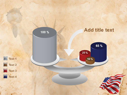 American Stars and Stripes Flag PowerPoint Template Slide 10