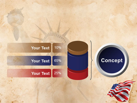 American Stars and Stripes Flag PowerPoint Template Slide 11
