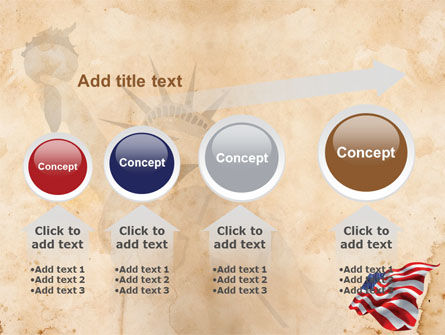American Stars and Stripes Flag PowerPoint Template Slide 13
